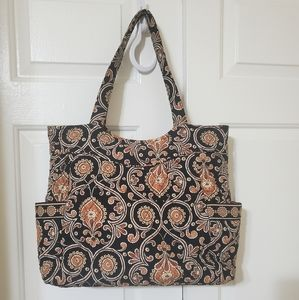 Vera bardley quilted tote bag